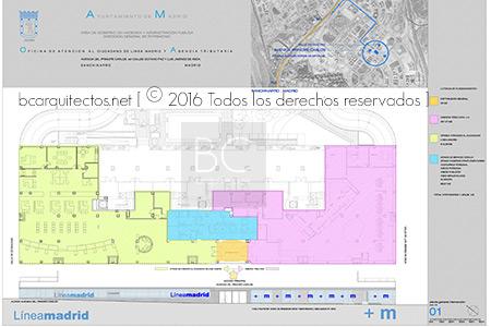 Oficina l nea madrid sanchinarro bc arquitectos for Oficina de atencion al ciudadano linea madrid